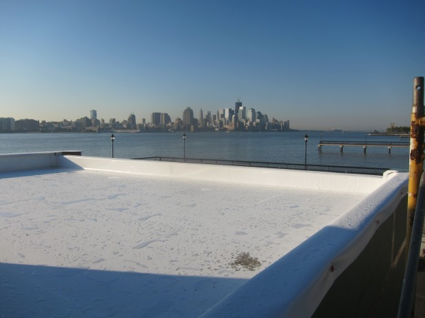 waterproofing membrane on house with view of manhattan