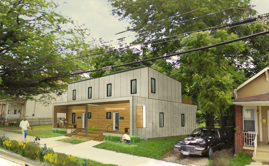 A rendering of Empowerhouse in its final stage in Deanwood