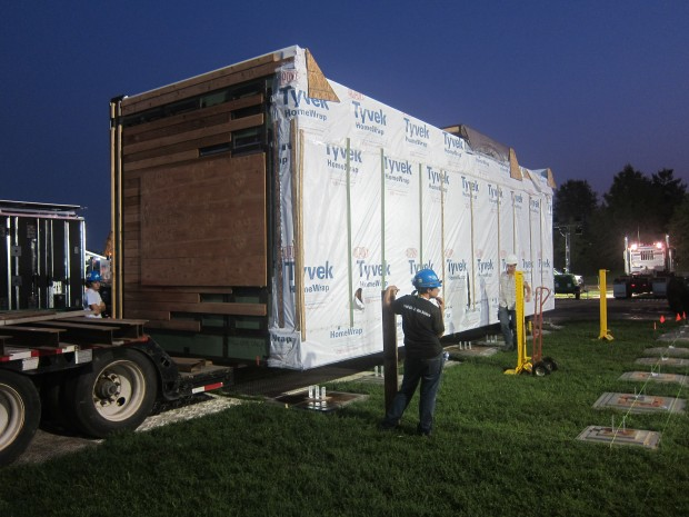 dry module arrived at site before 6:30 am