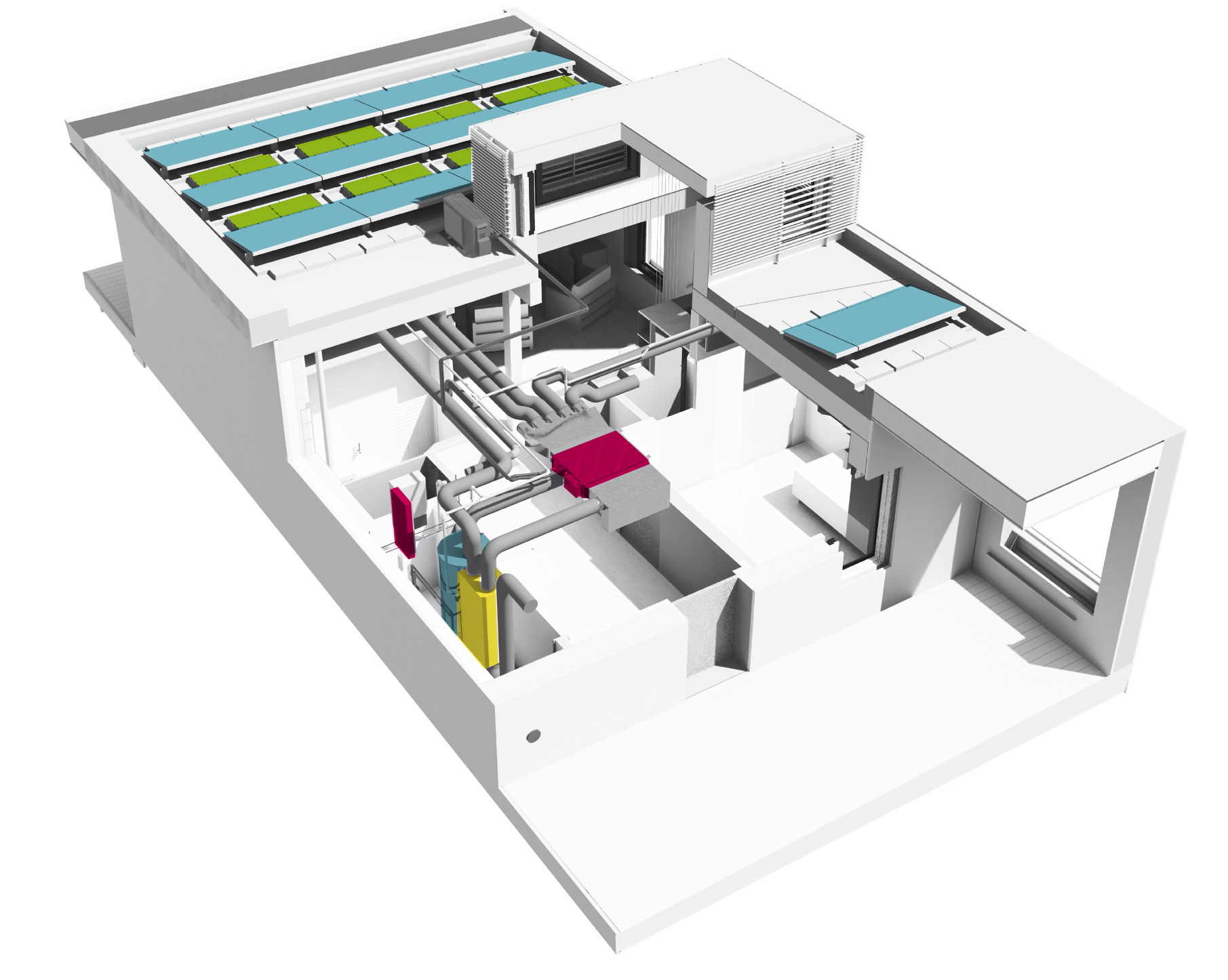 A rendering of the Systems Inside the Empowerhouse