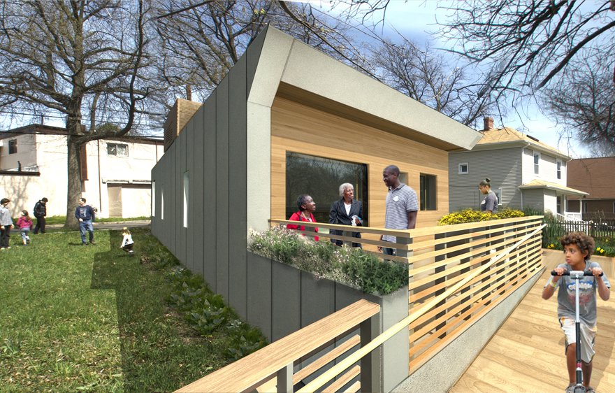 A rendering of Empowerhouse's porch in the Deanwood Community